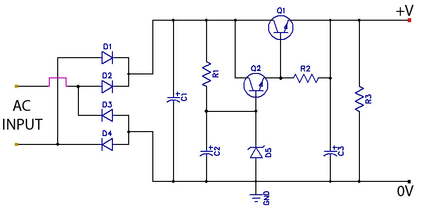 low ripple power supply circuit diagram allpcb com rh allpcb com hp power supply wiring diagram hp power supply wiring diagram