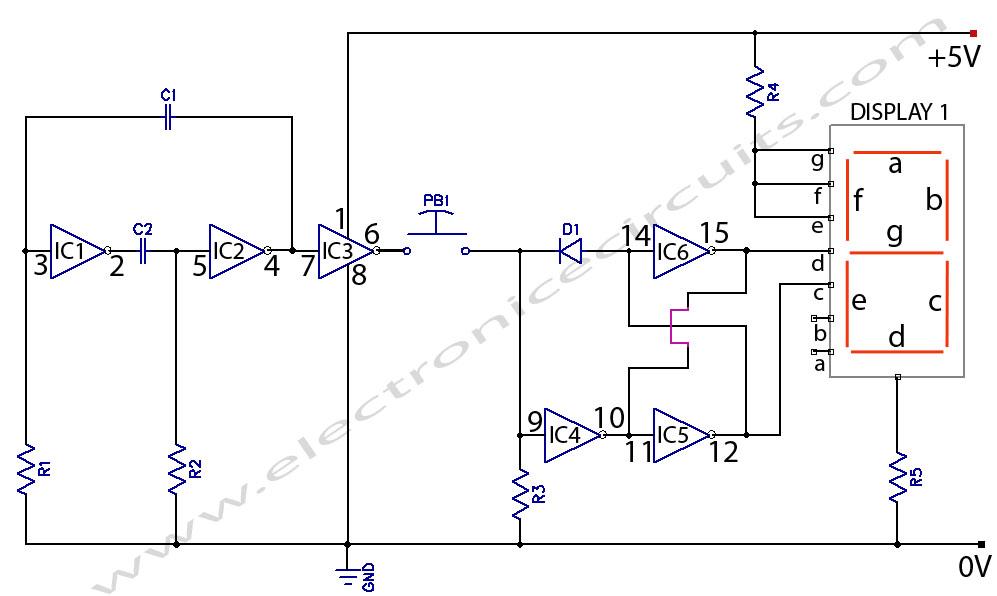 Electronic Coin Toss Circuit Diagram - ALLPCB.com