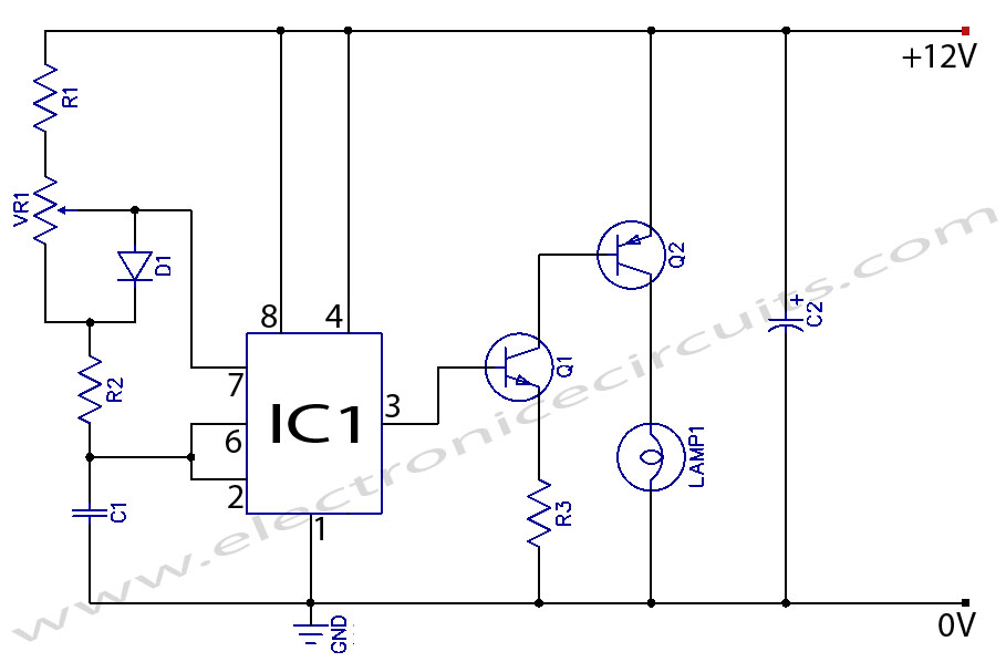 12v dc light dimmer circuit using 555 timer ic allpcb 12v lamp dimmer circuit diagram using 555 timer ic cheapraybanclubmaster Gallery