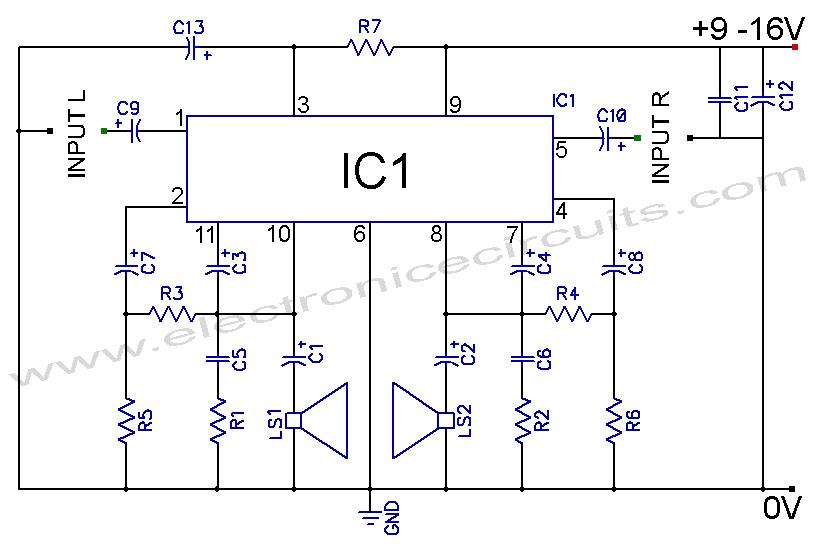 tda2004 car stereo amplifier circuit allpcb com rh allpcb com