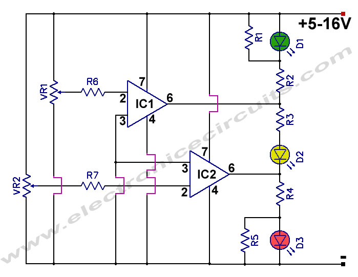 Battery Charge Nominal Discharge Indicator Circuit Allpcb Com