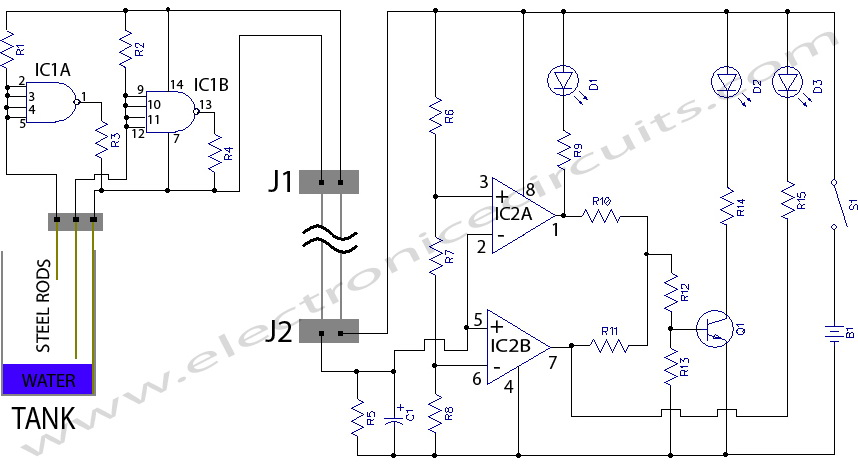 wwwelectronicecircuitscomc20170227213905215 water level indicator circuit diagram allpcb com hot water tank wiring diagram at gsmx.co