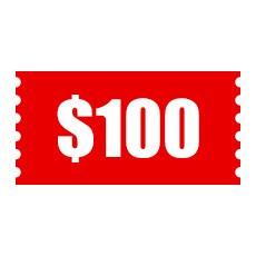 $100 Cash Coupon