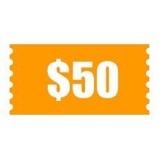 $50 Cash Coupon