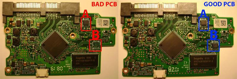 good and bad PCB