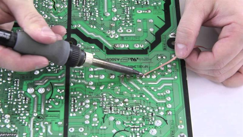 Remove Solder with Desoldering Braid