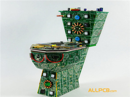 Mini Circuit Board Toilet