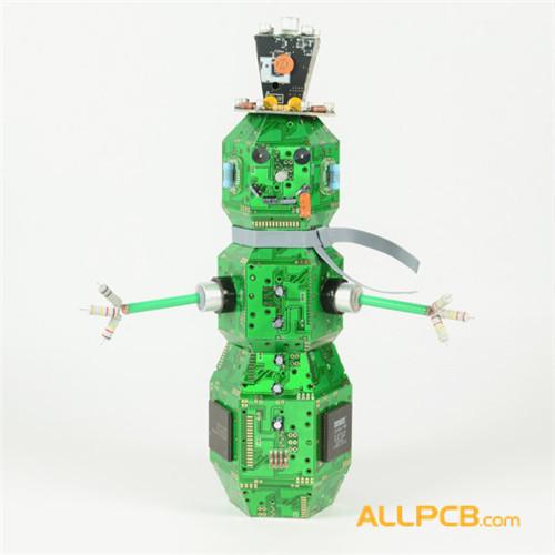 Circuit Board Snowman