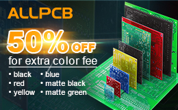 50% off, solder mask, color fee